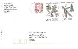 LETTERA X ITALY CON ALBERI - Storia Postale