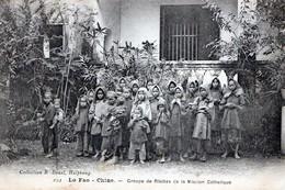 CHINE: LO FAO-Groupe De Fillettes De La Mission Catholique,en1908,tbon état. - Chine