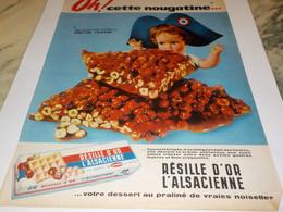 ANCIENNE PUBLICITE OH CETTE NOUGATINE RESILLE D OR DE L ALSACIENNE 1960 - Autres Collections