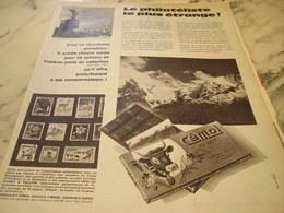 ANCIENNE PUBLICITE LA PHILATELISTE  CHOCOLAT CEMOI 1960 - Affiches