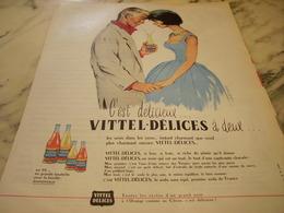 ANCIENNE PUBLICITE A DEUX MON VITTEL DELICE 1960 - Affiches