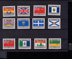 719991886 CANADA 1979 SCOTT 821 832 PROVINCIAL AND TERRITORIAL FLAGS - 1952-.... Règne D'Elizabeth II