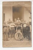 CARTE PHOTO - MILITAIRE - LES RESCAPES DU GALLIA, BATEAU TORPILLE - BIZERTE LE 26 OCTOBRE 1916 - Guerre 1914-18