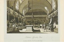 19 : 2 / 285. -  ASSEMBLÉE  NATIONALE  -  SALLE DU  MANÈGE  - Gravure Anglaise De Samuel Irland ( 1790 ) C. P. M. - Autres Monuments, édifices