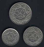 Polen, Lot:10+20+50 Groszy 1923, Qualität - Pologne