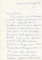 Lettre D'Edith Follet, Ex-Mme Céline - Autographs