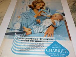ANCIENNE PUBLICITE  BEBE PARTAGE AVEC SA MAMAN CHARRIER 1960 - Affiches