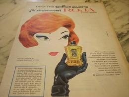 ANCIENNE PUBLICITE COIFFURE MODERNE CHEVEUX ROJA  1960 - Parfums & Beauté