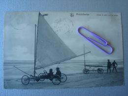 MIDDELKERKE : Chars à Voile Sur La Plage En 1913 - Middelkerke
