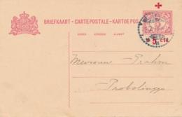 Nederlands Indië - 1918 - 5+5 Cent Rode Kruis, Briefkaart G25 Van Weltevreden Naar Probolinggo - Nederlands-Indië