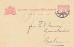 Nederlands Indië - 1919 - 5 Cent Vürtheim II, Briefkaart G27 Particulier Bedrukt - Geboortekaartje - Padang Naar Arnhem - Indes Néerlandaises