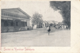 Nederlands Indië - Fotokaart Sociteit En Voorstraat Soerakarta - Uitgave Boekhandel Vogel Vd Heyde & Co - Andere