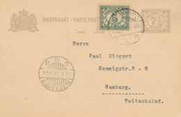 Nederlands Indië - 2x 7,5 Cent Vürtheim II, Briefkaart G29a En B (beide Kartonsoorten) 1x Van LB PALOPPO Naar Hamburg - Indes Néerlandaises