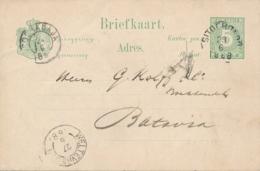 Nederlands Indië - 1888 - 5 Cent Cijfer, Briefkaart G8 Van KR SITOEBONDO Naar Batavia - Indes Néerlandaises