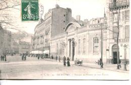 N°70242 -cpa Le Havre -la Banque De France Et La Rue Thiers- - Le Havre
