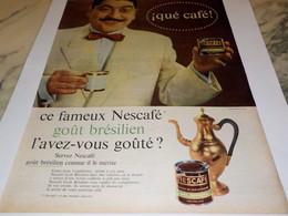 ANCIENNE PUBLICITE QUE CAFE  NESCAFE   1960 - Affiches