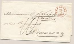 Nederlands Indië - 1867 - Rondstempel SAMARANG Op EO-vouwbrief Naar Oenarang - Nederlands-Indië