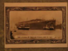 WHITE STAR LINE TITANIC LAUNCH - MODERN CARD - Steamers