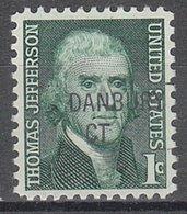 USA Precancel Vorausentwertung Preo, Locals Connecticut, Danbury 841 - Vereinigte Staaten