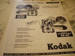ANCIENNE  PUBLICITE NOUVEAU STARLETFLASH  AVEC KODAK    1960 - Photographie