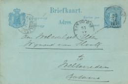Nederlands Indië - 1891 - 5 Cent Cijfer, Briefkaart G10 Van KR GOMBONG Naar Batavia - Matige Kwaliteit / Poor Quality - Indes Néerlandaises