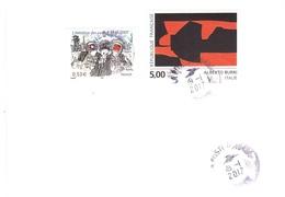 LETTERA X ITALY CON ALBERTO BURRI - Storia Postale
