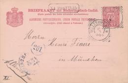 Nederlands Indië - 1899 - 7,5 Cent Cijfer, Briefkaart G12 Van VK KENDAL - Na Posttijd - Naar München / Deutschland - Indes Néerlandaises