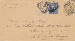 Nederlands Indië - 1901 - 5 Cent Cijfer Op 10 Cent Willem III, Envelop G11 Van Weltevreden Naar Den Haag - Niederländisch-Indien