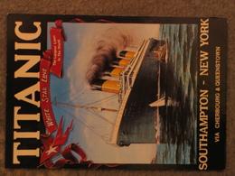 WHITE STAR LINE TITANIC POSTER ADVERT - MODERN CARD - Steamers