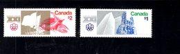 719999563 CANADA 1976 SCOTT  687 688 OLYMPIC STADIUM - HIGH RISE TOWER - 1952-.... Règne D'Elizabeth II