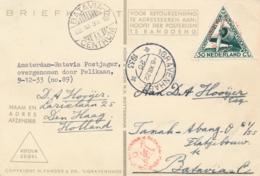 Nederland - Nederlands Indië - 1933 - 30 Cent Driehoekzegel Op Postjagervlucht Van Den Haag Naar Batavia - Indes Néerlandaises