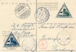 Nederlands Indië - 1933 - Postjagervlucht Amsterdam Naar Bandoeng, Retour Per Pelikaan - Indes Néerlandaises