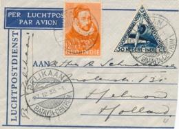 Nederlands Indië - 1933 - Pelikaanvlucht Van Batavia/8 Naar Helmond / Nederland - Indes Néerlandaises