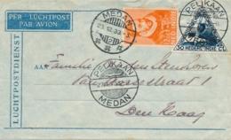 Nederlands Indië - 1933 - Pelikaanvlucht Van Medan/2 Naar Den Haag / Nederland - Indes Néerlandaises
