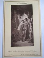 """Photographie Ancienne Format Cabinet - Editions GOUPIL - """" Galatée Et Axis..."""" Par J. Bertrand    - SUPERBE ! - Photos"""