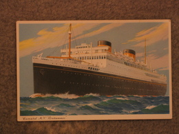 WHITE STAR LINE BRITANNIC ART CARD - BORDER - Steamers