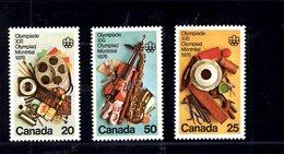 720000439 CANADA 1976 SCOTT  684 685 686 COMMUNICATION ARTS - 1952-.... Règne D'Elizabeth II