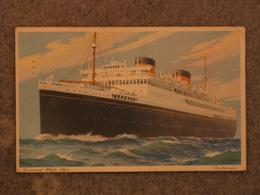 WHITE STAR LINE BRITANNIC ART CARD - WHITE BORDER - Steamers