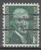 USA Precancel Vorausentwertung Preo, Locals Connecticut, Deep River 843 - Vereinigte Staaten