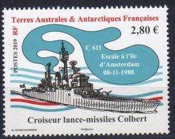 TAAF ,  FRENCH ANTARCTIC, 2019, MNH, BATTLESHIPS, SHIPS, 1v - Ships
