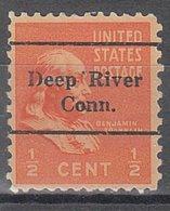 USA Precancel Vorausentwertung Preo, Locals Connecticut, Deep River L-1 TS - Vereinigte Staaten