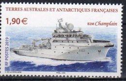 TAAF ,  FRENCH ANTARCTIC, 2019, MNH, SHIPS, BOAT, B2M CHAMPLAIN,1v - Ships