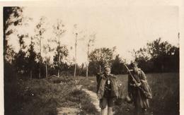 PHOTO ALLEMANDE - SOLDATS DANS LES BOIS PRES DE PINON - CHEMIN DES DAMES 1917 -  GUERRE 1914 1918 - 1914-18