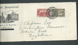 Mexico 1935 Air Mail Cover To Kent United Kingdom - Mexico