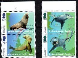 BRITISH ANTARCTIC TERRITORY, BAT,  2018, MNH, MIGRATORY SPECIES, SEALS, LEOPARD SEALS,  4v - Marine Mammals