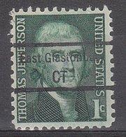 USA Precancel Vorausentwertung Preo, Locals Connecticut, East Glastonbury 848,5 - Vereinigte Staaten