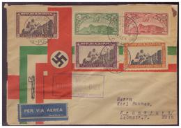 Dt-Reich (007631) Propaganda San-Marino, Italienreise Des Führers 1938, Umschlag Ist Durch Eingeklebten Karton Gestüzt!! - Deutschland
