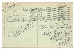PARIS Obl Mécanique PARIS 31 R. De Bourgogne 7 Barres Ondulées égales 9.11.1918 Ref DREYFUSS B0 31 103 ..G - Marcophilie (Lettres)