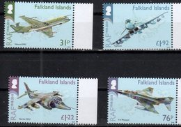 FALKLAND ISLANDS , 2018, MNH,100th ANNIVERSARY OF THE RAF, AIRFORCE, PLANES, 4v - Airplanes