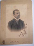 TORINO - Photographie De Cabinet - Portrait D'un Bel Italien - Photo De SCHEMBOCHE - 1897 - Alte (vor 1900)